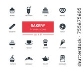 bakery concept   line design... | Shutterstock .eps vector #755675605