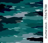 camouflage background with... | Shutterstock . vector #755678788