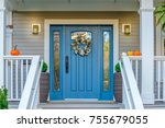 entrance of a house. | Shutterstock . vector #755679055
