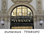 Small photo of Milan - Italy - Versace boutique on november 14,2017 in Vittorio Emanuele Gallery