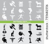 mythology set vector | Shutterstock .eps vector #755682556