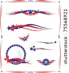 american set of design elements | Shutterstock .eps vector #75568921