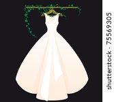 wedding dress pink with black...   Shutterstock .eps vector #75569305