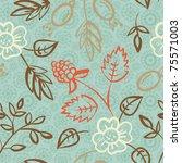 floral seamless pattern | Shutterstock .eps vector #75571003