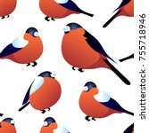 seamless pattern with... | Shutterstock .eps vector #755718946