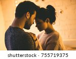 passionate romantic couple in... | Shutterstock . vector #755719375