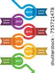 colourful modern year timeline... | Shutterstock .eps vector #755721478