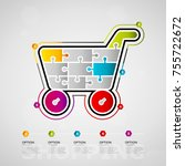 five options shopping timeline... | Shutterstock .eps vector #755722672