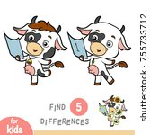 find differences  education... | Shutterstock .eps vector #755733712