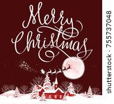 santa. merry christmas.   Shutterstock . vector #755737048
