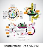 infographics templates with... | Shutterstock .eps vector #755737642