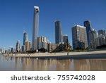 skyline of surfers paradise ... | Shutterstock . vector #755742028