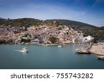 skopelos old town seen from the ... | Shutterstock . vector #755743282