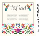 colorful mexican traditional...   Shutterstock .eps vector #755743588