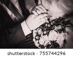black white  photography hands... | Shutterstock . vector #755744296