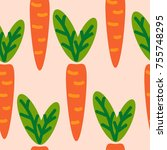 cute seamless pattern with... | Shutterstock .eps vector #755748295