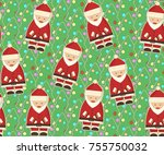 christmas and new year seamless ... | Shutterstock .eps vector #755750032