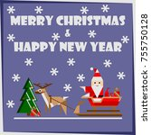 merry christmas and happy new...   Shutterstock .eps vector #755750128