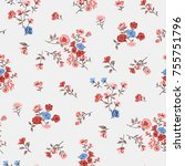 floral pattern in vector | Shutterstock .eps vector #755751796