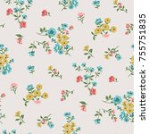 floral pattern in vector | Shutterstock .eps vector #755751835