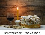 homemade decorated serbian... | Shutterstock . vector #755754556