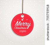 merry christmas everyone badge | Shutterstock .eps vector #755755918