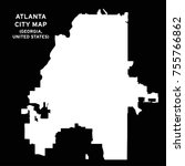 atlanta  georgia  usa city map... | Shutterstock .eps vector #755766862