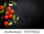 branch ripe raw tomatoes ... | Shutterstock . vector #755770312