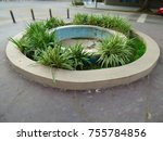 careless fountain. empty...   Shutterstock . vector #755784856