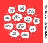 popular holiday speech bubbles... | Shutterstock .eps vector #755788702