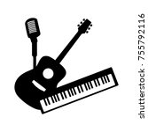 music group concept. guitar ...   Shutterstock .eps vector #755792116