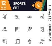 sport icon collection vector set   Shutterstock .eps vector #755794546