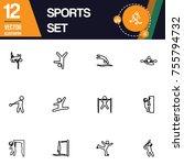 sport icon collection vector set   Shutterstock .eps vector #755794732