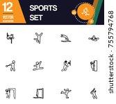 sport icon collection vector set | Shutterstock .eps vector #755794768