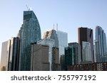 skyline of downtown toronto ... | Shutterstock . vector #755797192