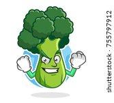 broccoli character design or... | Shutterstock .eps vector #755797912