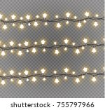 christmas lights isolated on... | Shutterstock .eps vector #755797966