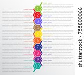 vector infographic templates... | Shutterstock .eps vector #755800066