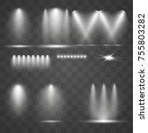 set light sources. concert... | Shutterstock .eps vector #755803282