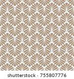 vector floral art nouveau... | Shutterstock .eps vector #755807776