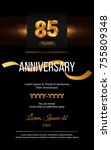 85 years golden anniversary... | Shutterstock .eps vector #755809348