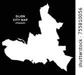 dijon  france city map vector | Shutterstock .eps vector #755810056