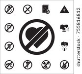 no love  prohibited sign icon.... | Shutterstock .eps vector #755816812