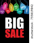 big sale. creative colorful... | Shutterstock .eps vector #755819842