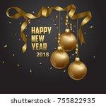 vector illustration of happy... | Shutterstock . vector #755822935