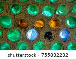 bottles in concrete wall create ...   Shutterstock . vector #755832232