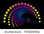 abstract colorful dot swirls ... | Shutterstock .eps vector #755834506