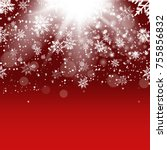 christmas and new year red... | Shutterstock .eps vector #755856832