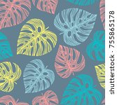 tropical seamless pattern with...   Shutterstock .eps vector #755865178