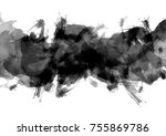 abstract black and white... | Shutterstock . vector #755869786